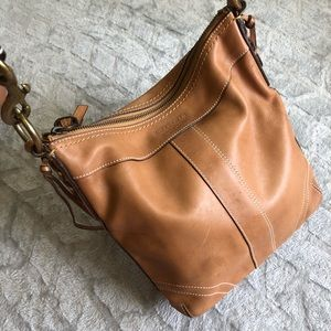 Coach genuine leather shoulder/cross body bag